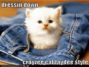 dressin down  crayzee cat laydee style