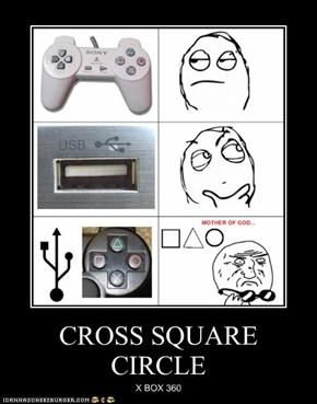 CROSS SQUARE CIRCLE