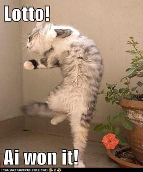 Lotto!  Ai won it!