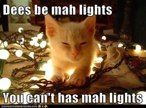 Dees be mah lights  You can't has mah lights