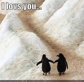 I lovs you...