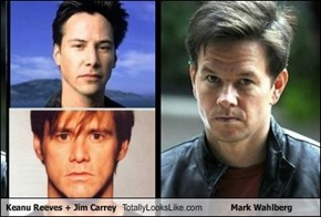 Keanu Reeves + Jim Carrey Totally Looks Like Mark Wahlberg