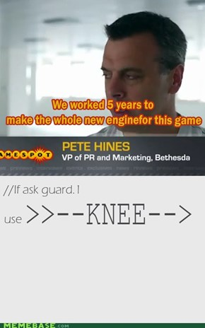 The Knee Script of the Bethesda company