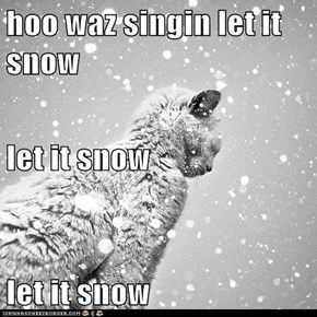 hoo waz singin let it snow let it snow let it snow