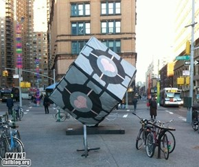 Hacked IRL: Companion Cube Transformation