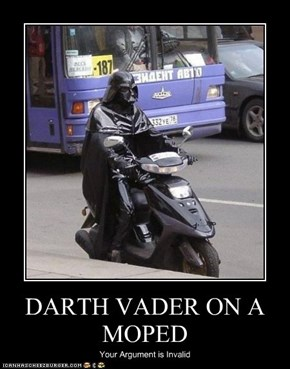 DARTH VADER ON A MOPED