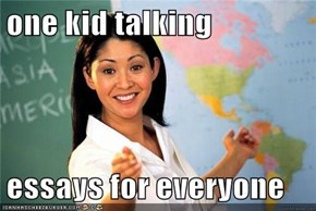 one kid talking  essays for everyone
