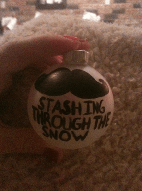 'Stache Ornament WIN