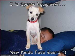 I is Sports Equipment...  New Kinda Face Guard :)