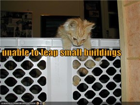 unable to leap small buildings