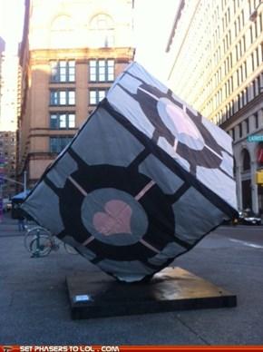 Caltech Companion Cube Prank