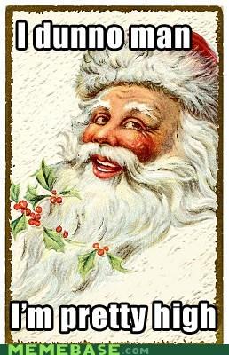 Happy Vintage Santa