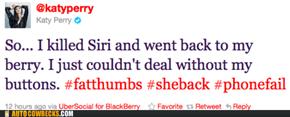 Katy Prefers Her BlackPerry