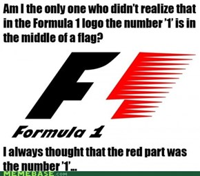 Cannot Unsee: Formula 1 Logo