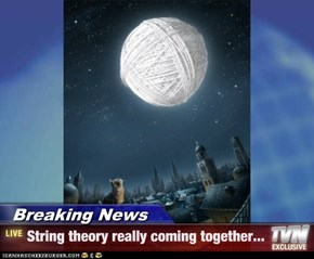 Breaking News - String theory really coming together...