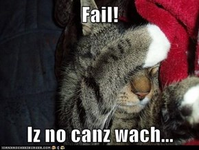 Fail!  Iz no canz wach...
