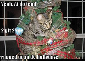 Yeah, Ai do tend 2 git 2 rapped up in de hollydaze