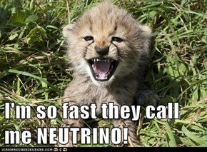 I'm so fast they call me NEUTRINO!