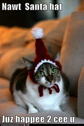 Nawt  Santa hat  Juz happee 2 cee u