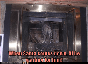 When Santa comes down, Ai be waiting for him!