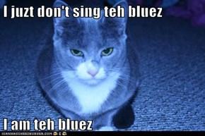 I juzt don't sing teh bluez  I am teh bluez