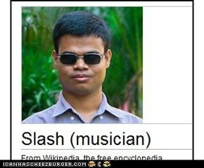 Slash's new look.