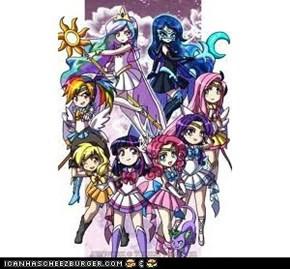 Mlp:FiM Sailormoon style