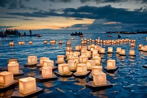 Floating Lantern Festival, Memorial Day, Ala Moana Beach Park Hawaii