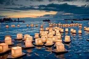 Floating Lantern Festival, Memorial Day, Ala Moana Beach Park Hawaii