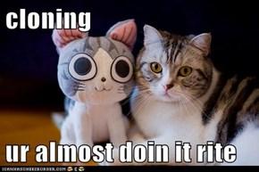 cloning  ur almost doin it rite