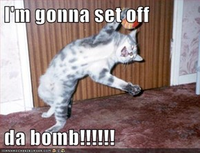 I'm gonna set off   da bomb!!!!!!