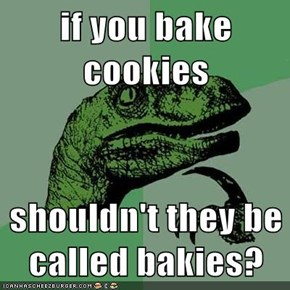 if you bake cookies  shouldn't they be called bakies?