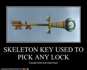 SKELETON KEY USED TO PICK ANY LOCK