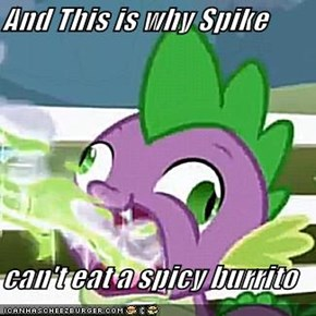 And This is why Spike  can't eat a spicy burrito