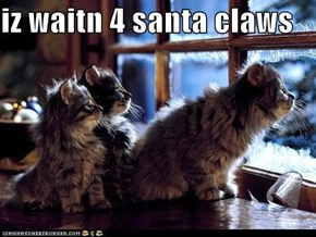 iz waitn 4 santa claws