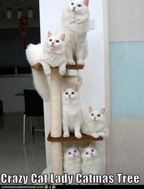 Crazy Cat Lady Catmas Tree