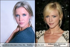 Jessy Schram (Once Upon a Time, Life) Totally Looks Like Brittany Snow  (Harry's Law, Hairspray)