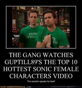 THE GANG WATCHES GUPTILL89'S THE TOP 10 HOTTEST SONIC FEMALE CHARACTERS VIDEO