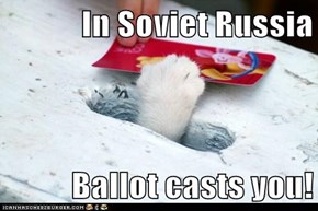 In Soviet Russia  Ballot casts you!