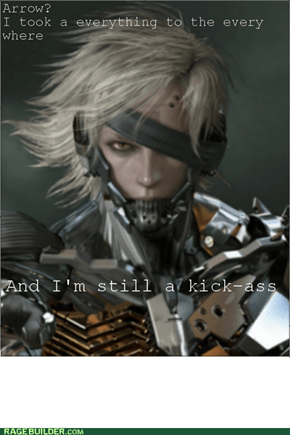 Raiden and arrows to knees