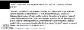 Professor's Response WIN