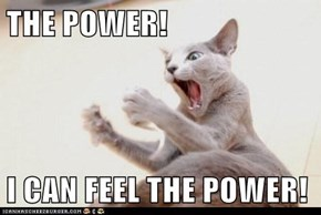 THE POWER!  I CAN FEEL THE POWER!