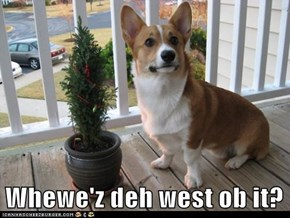 Whewe'z deh west ob it?