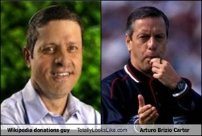 Wikipedia donations guy Totally Looks Like Arturo Brizio Carter