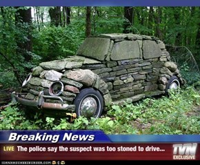 Breaking News - The police say the suspect was too stoned to drive...