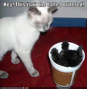 Hey! This isn't the latte I ordered!