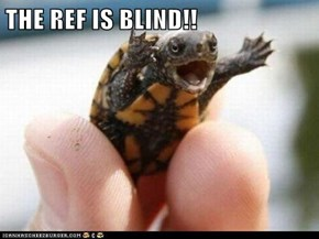 THE REF IS BLIND!!