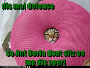 dis mai defense  so Ant Berfa dont sitz on me dis yeer!