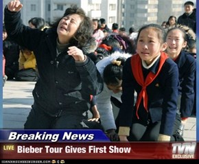 Breaking News - Bieber Tour Gives First Show