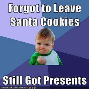 Leftover Christmas: SCORE!